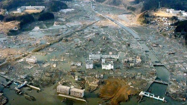 japan tsunami. after Tsunami hit Japan,