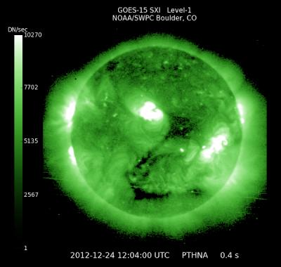 ACTIVIDAD SOLAR 24 DE DICIEMBRE 2012