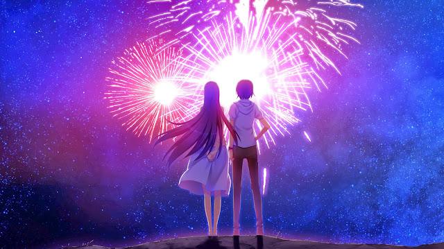 game cg, anime couples, anime cute