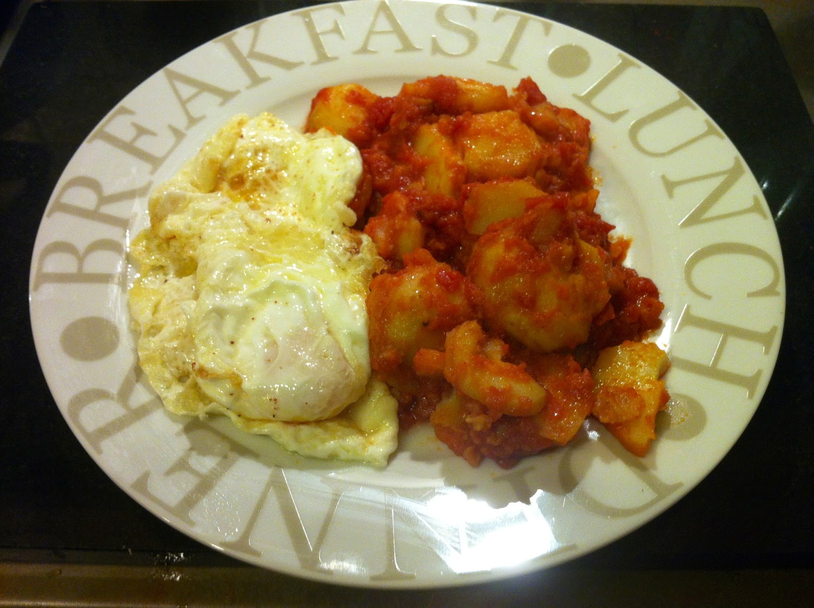 Don victors homemade spanish cuisine 19 fried potatoes cooked in you can fry a couple of eggs make sure that the yolks of fried eggs remain liquid so that so can dip bread on it and it will be the perfect match forumfinder Gallery