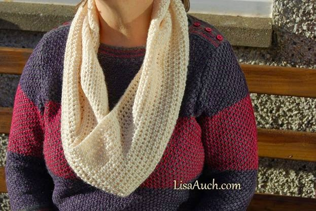Easy Cowl Infinity Scarf Perfect Crochet Gift Idea Free Crochet