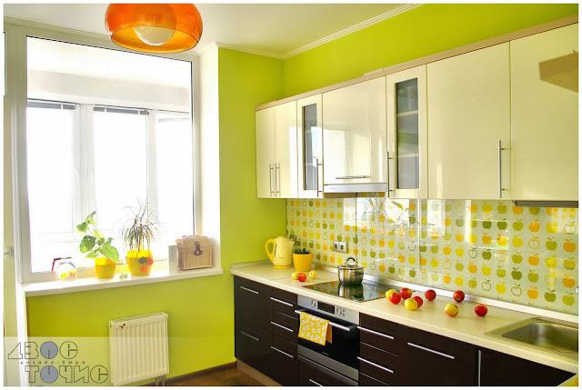 Бело зеленая кухня какие обои