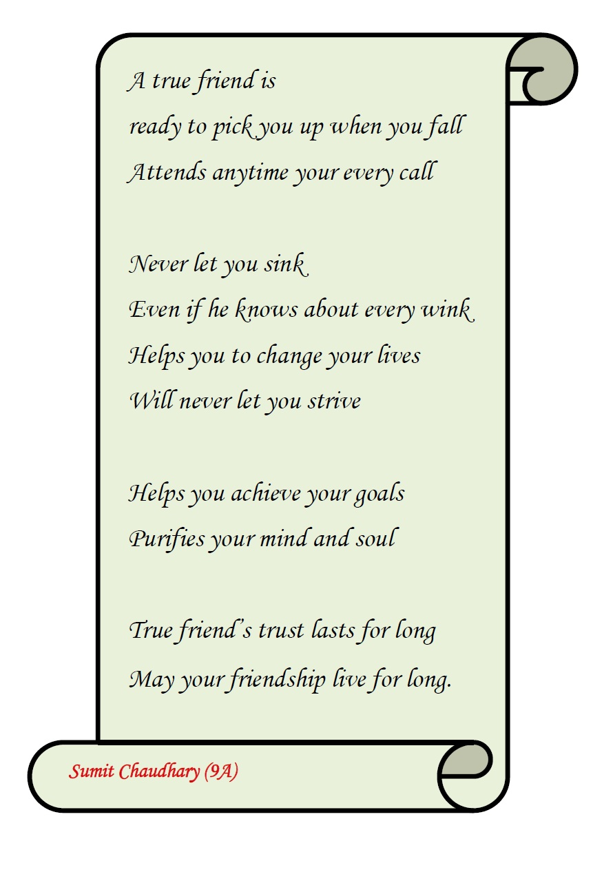 Poems on friendship for class 2 838h