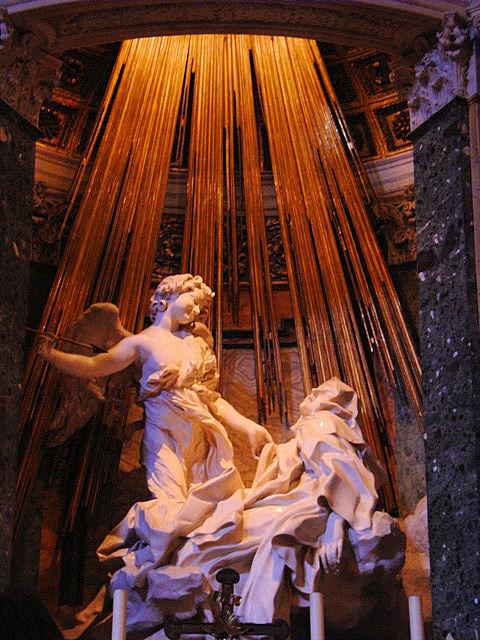Ecstasy of St. Teresa inside Santa Maria della Vittoria