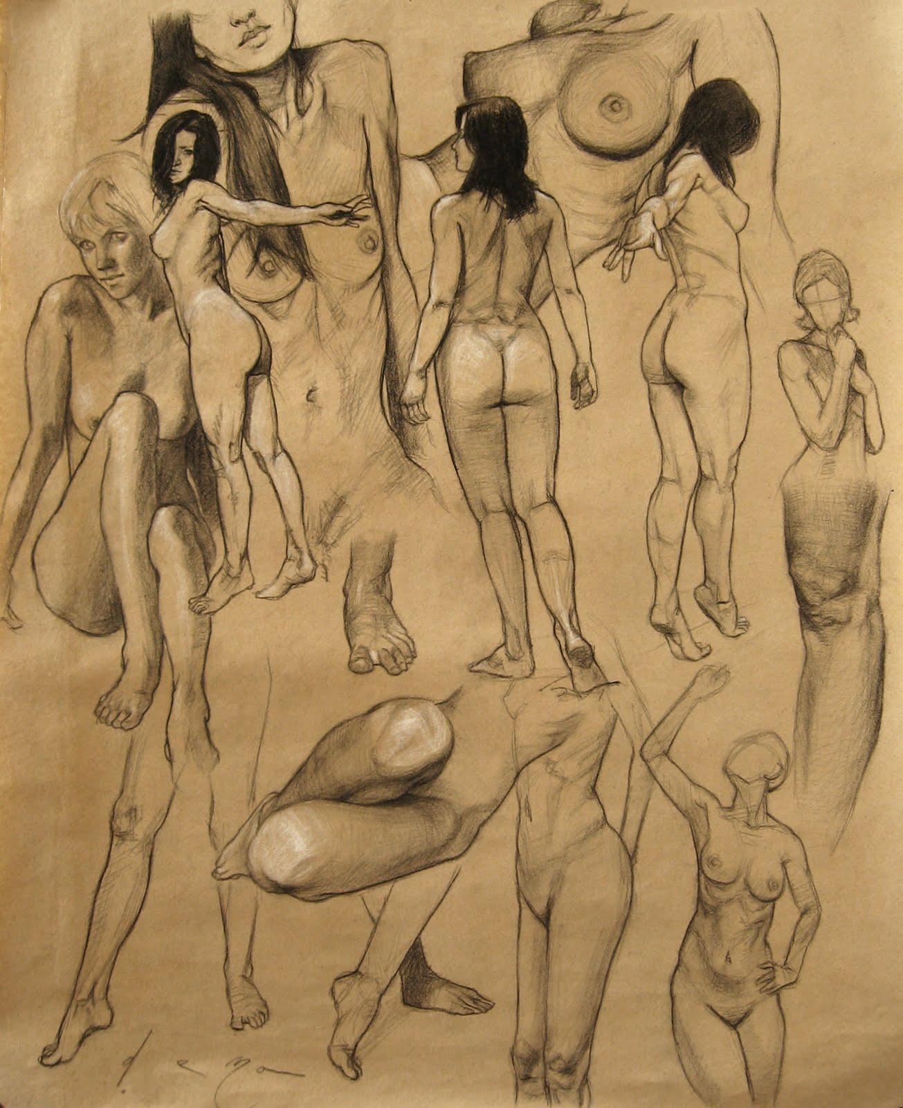 Eduardo Deza: Figure Sketches/Bocetos de Figura