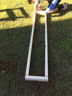 How to build shed shelving: Wood frame for the shelving. #woodworking #storage #organization