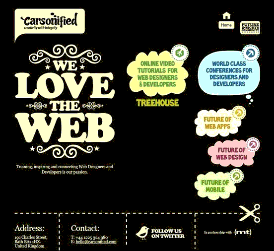Carsonified - Website design using drawings and illustration