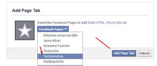 add page tab