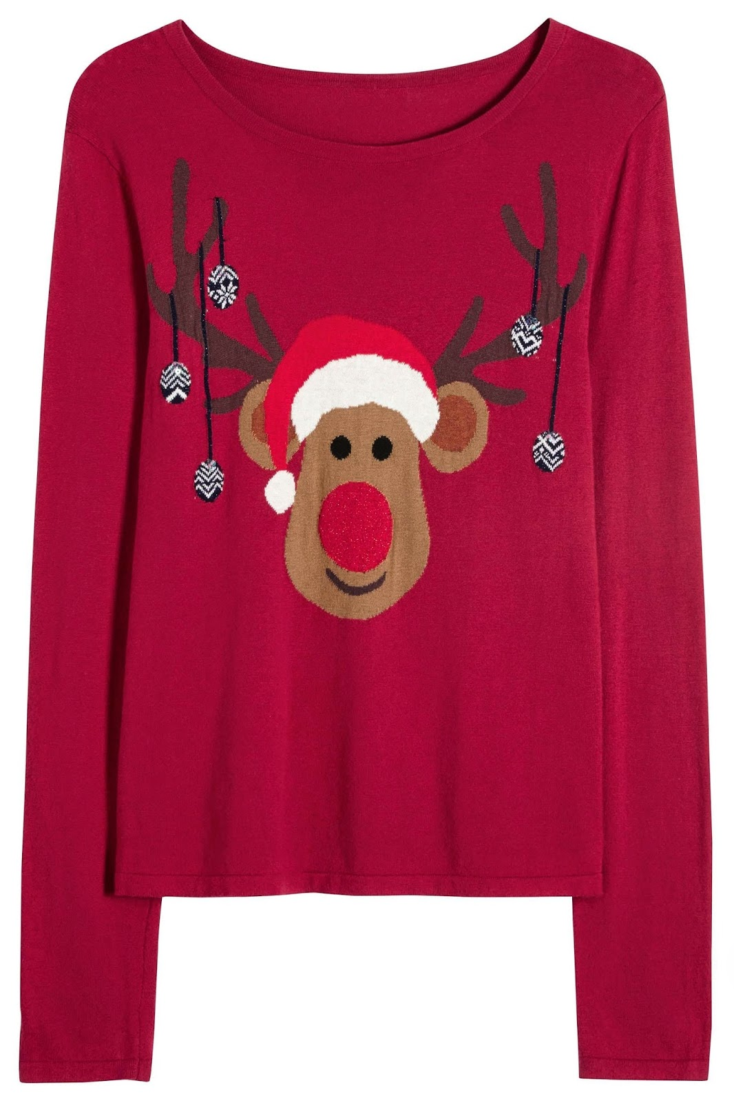 next red christmas ladies jumper, ladies next reindeer jumper