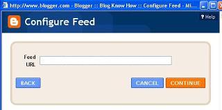 configure feed