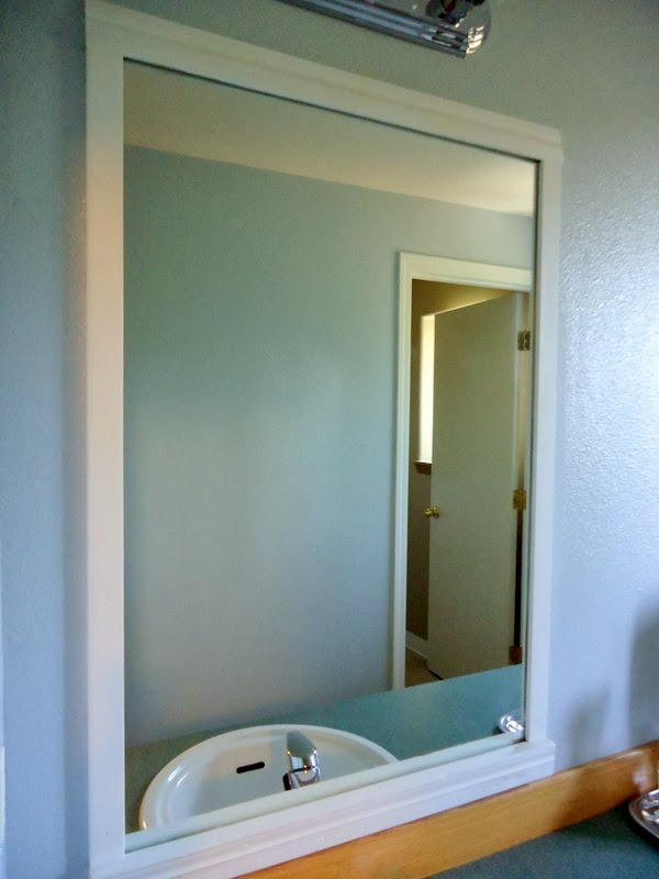 Pondered primed perfected how to frame bathroom mirrors - Frame bathroom mirror with moulding ...