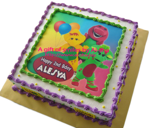 Birthday Cake Edible Image Barney and Friends Ai-sha Puchong Jaya