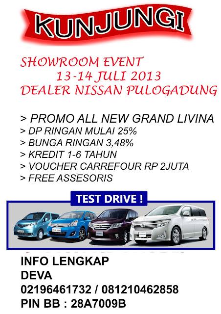 Showroom Event Dealer Nissan Jakarta - Pulogadung 13 -13 Juli 2013