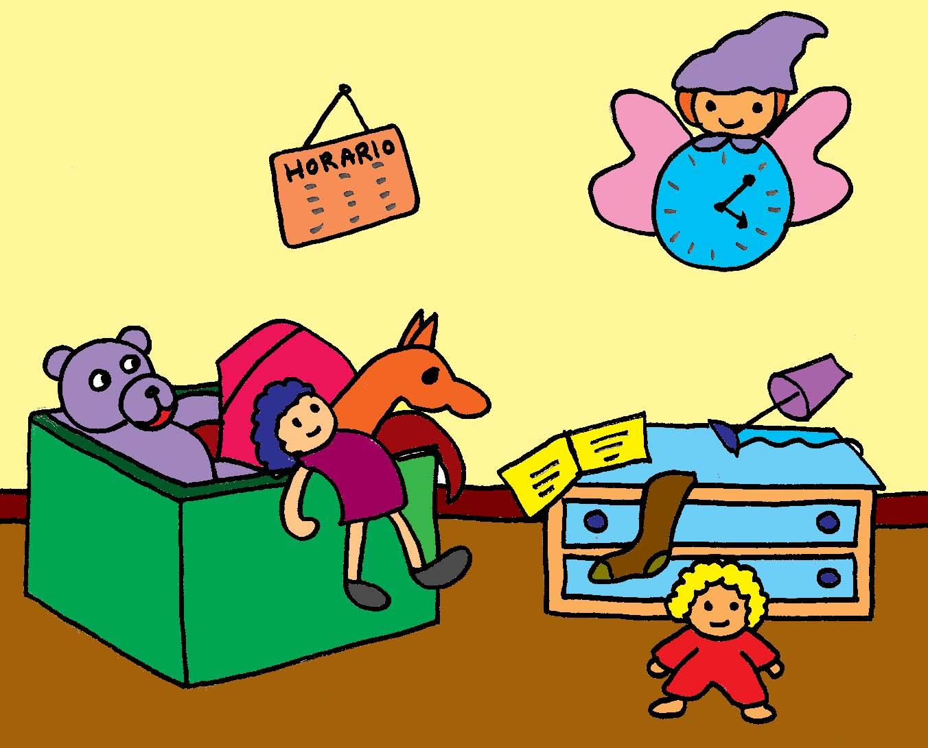 B aprende en casa la hora de recoger for Cuarto ordenado animado