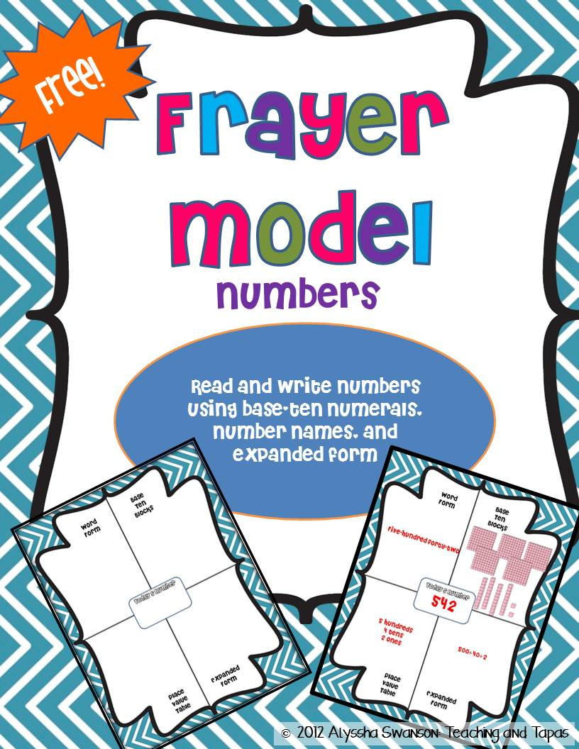 fabulous frayer model freebies