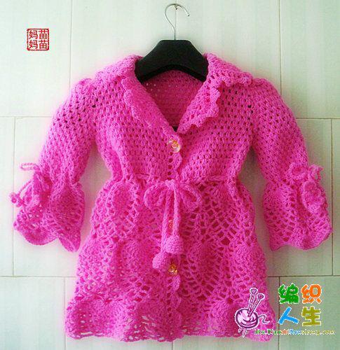 Crochet es un arte: abrigo para niñas