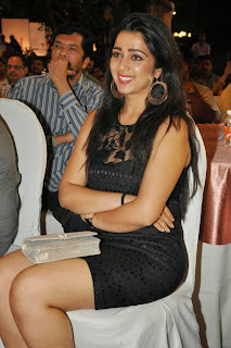 Actress Charmi Kaur Latest Pictures in Short Dress at 365 Days Audio Launch 3