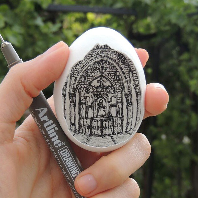15-Giragos-Church-Süreyya-Noyan-Architecture-Drawings-Art-Paintings-in-an-Egg-www-designstack-co