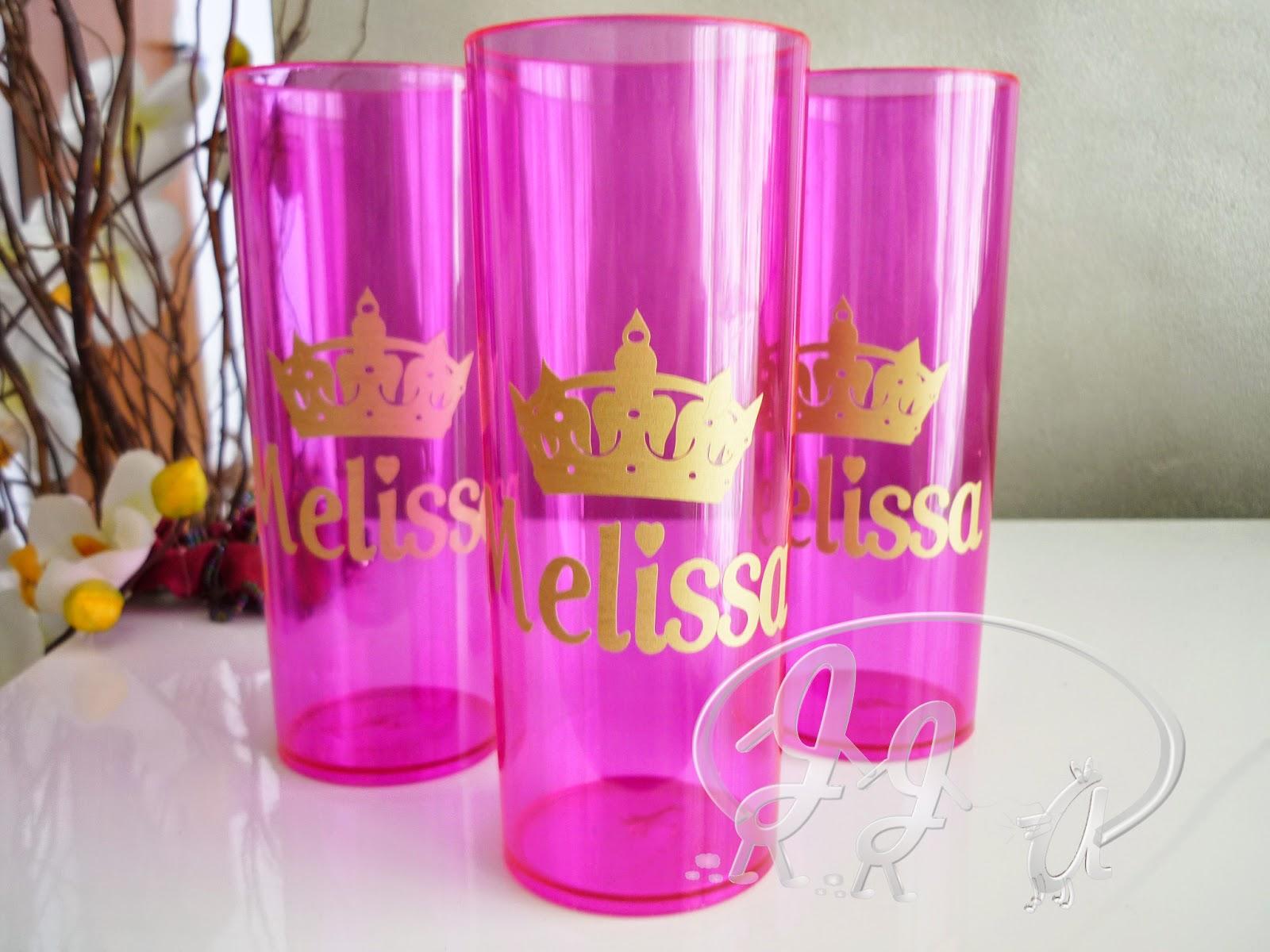 Top Joy Joy Artes: Copo Long Drink personalizado Princesa/Príncipe/Realeza DF24