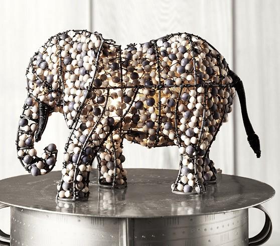 beaded elephant lamp wicker storage elephant the correct answer is