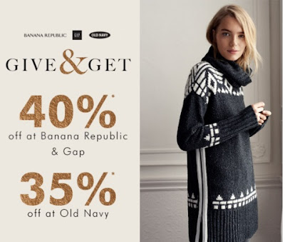 Gap & Banana Republic 40% Off + 35% off at Old Navy Promo Code