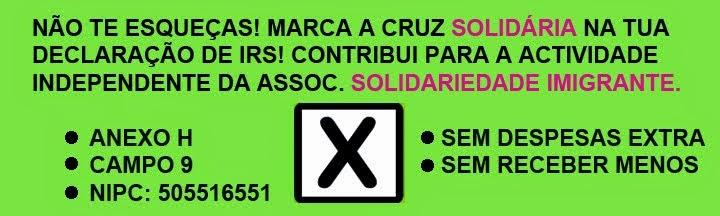 Apoie a Solidariedade Imigrante através do seu IRS.