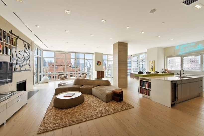 Interior of Wolf of Wall Street Manhattan Apartment