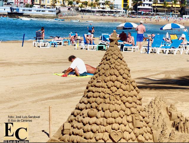 A más de 30 grados en el mes de la Navidad (diciembre) en Gran Canaria