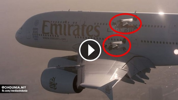 Dua Lelaki Bersayap Sanggup Bergadai Nyawa Demi Iklan Emirates !!..