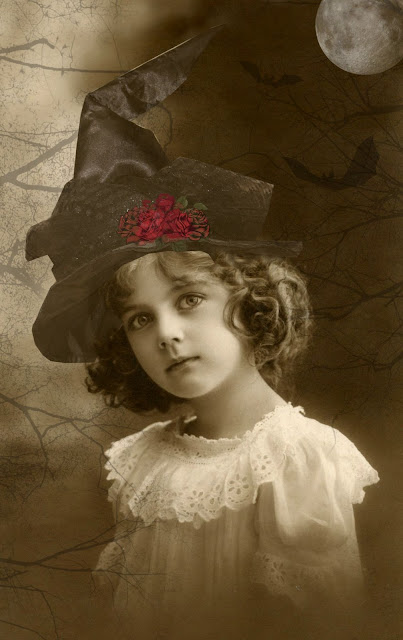 The Graphics Fairy, vintage Halloween, witch, Halloween witch, girl witch