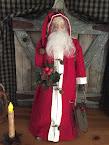 Handmad Primitive Standing Santa Claus