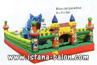 Istana Balon Blue Cat Paradise 8x5