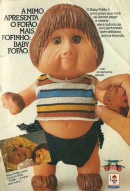 Propaganda do boneco Fofão Baby apresentado em 1989.