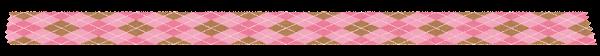 マスキングテープのイラスト「ピンクのアーガイルチェック」