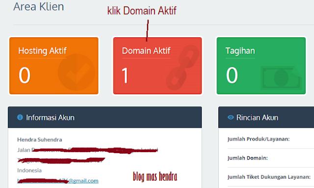 Penampakan Area Klien IDwebhost - Blog Mas Hendra