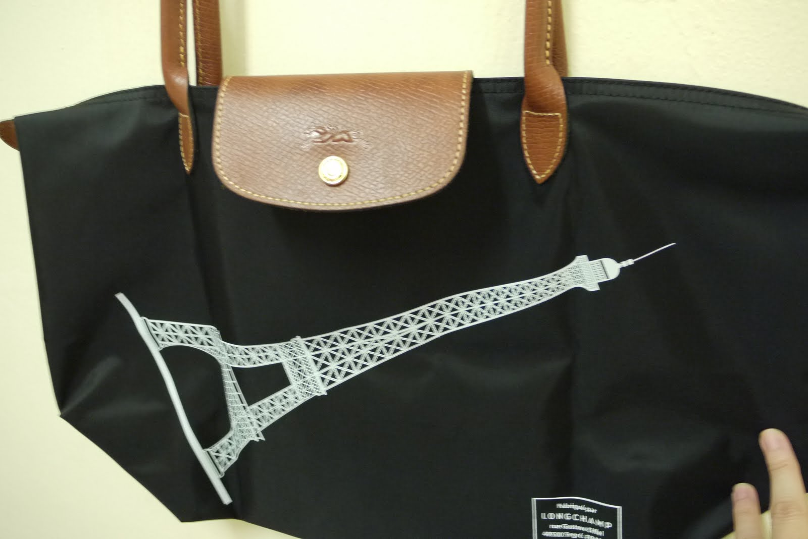 Longchamp Le Pliage Eiffel Tower Tote