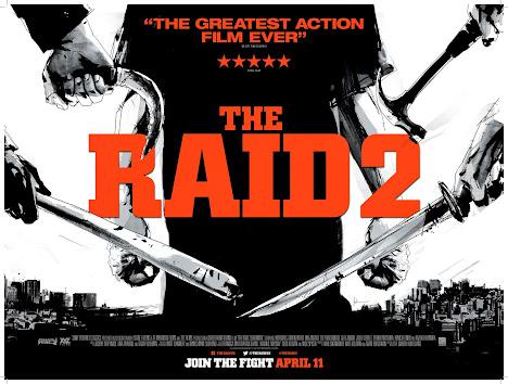 poster film The Raid 2: Berandal dengan gaya ala komik Jepang