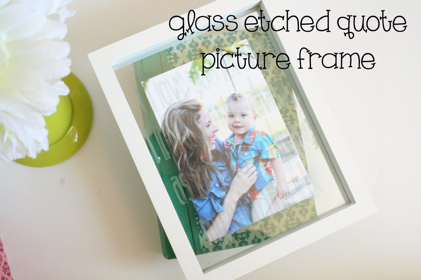 Tied ribbon glass etched quote picture frame monday april 22 2013 jeuxipadfo Image collections