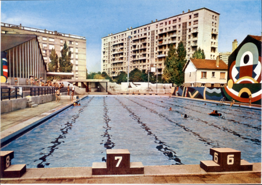 Architectures de cartes postales 1 la piscine aller la for Chatillon piscine