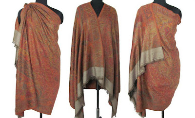 Wrap Cloth Jacquard Design Jamawar Wool Shawl