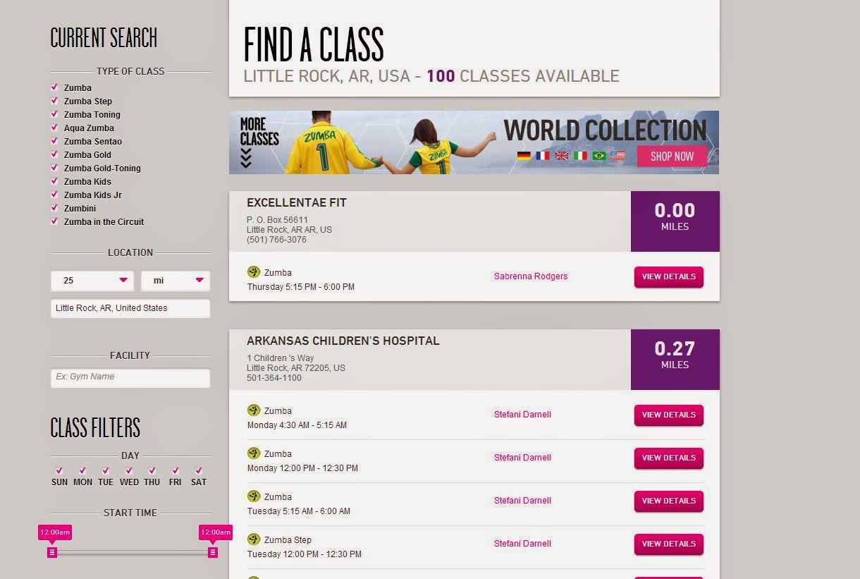 Use the Zumba website to find Zumba classes near me