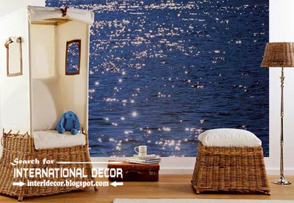 Contemporary wall murals wallpaper wall covering ideas for Wallcovering ideas