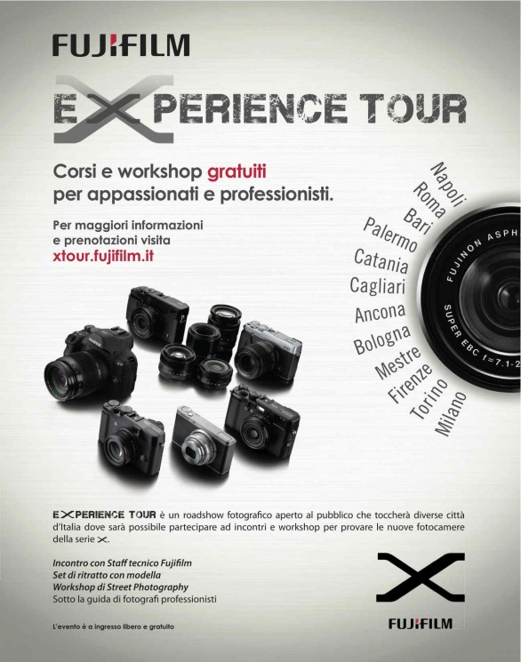 Locandina del Fujifilm eXperience Tour 2013