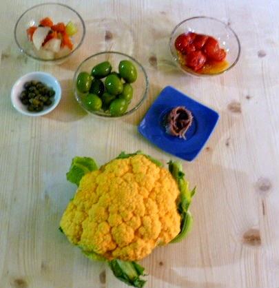 ingredienti per l'insalata di rinforzo