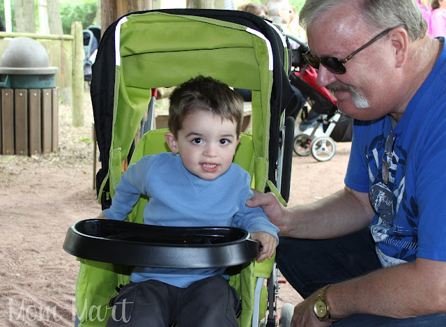 Strolling in the Joovy UltraLight with grandpa!