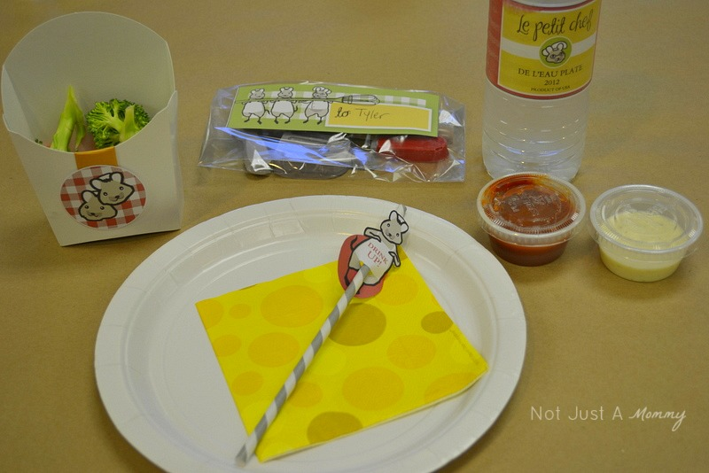 Little Chef Cooking Party place setting