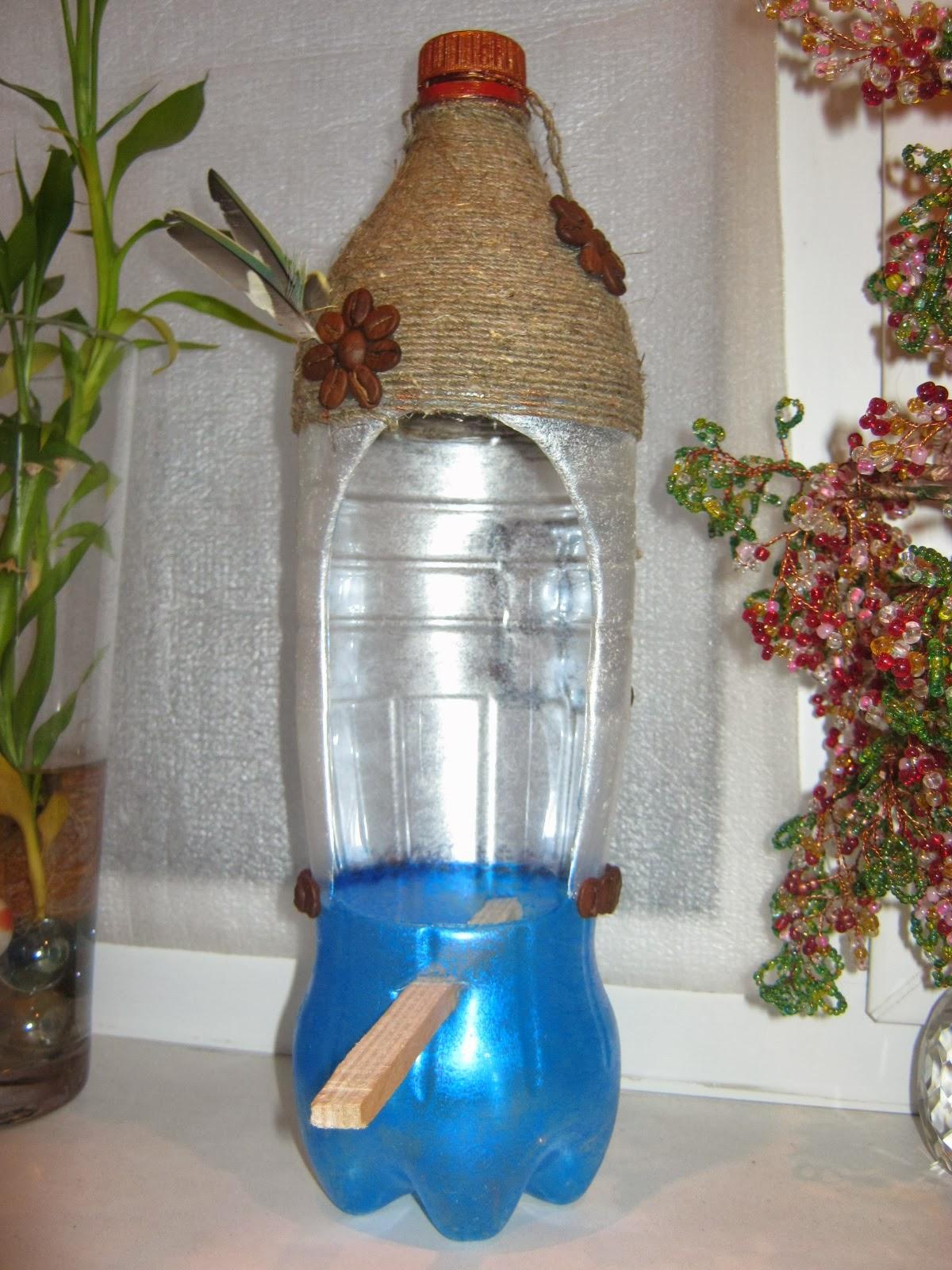 Как сделать птицу из пластиковой бутылки пошаговое