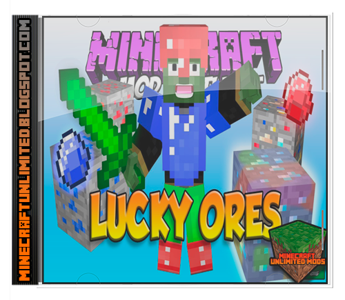 Lucky Ores Better Mining Mod Minecraft