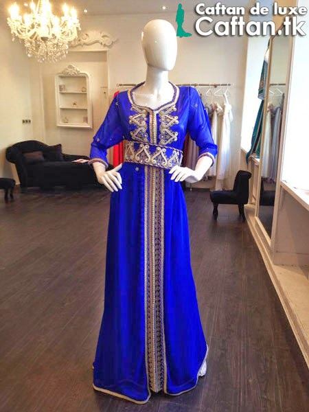 Caftan 2014 | Robe de soirée bleu roi