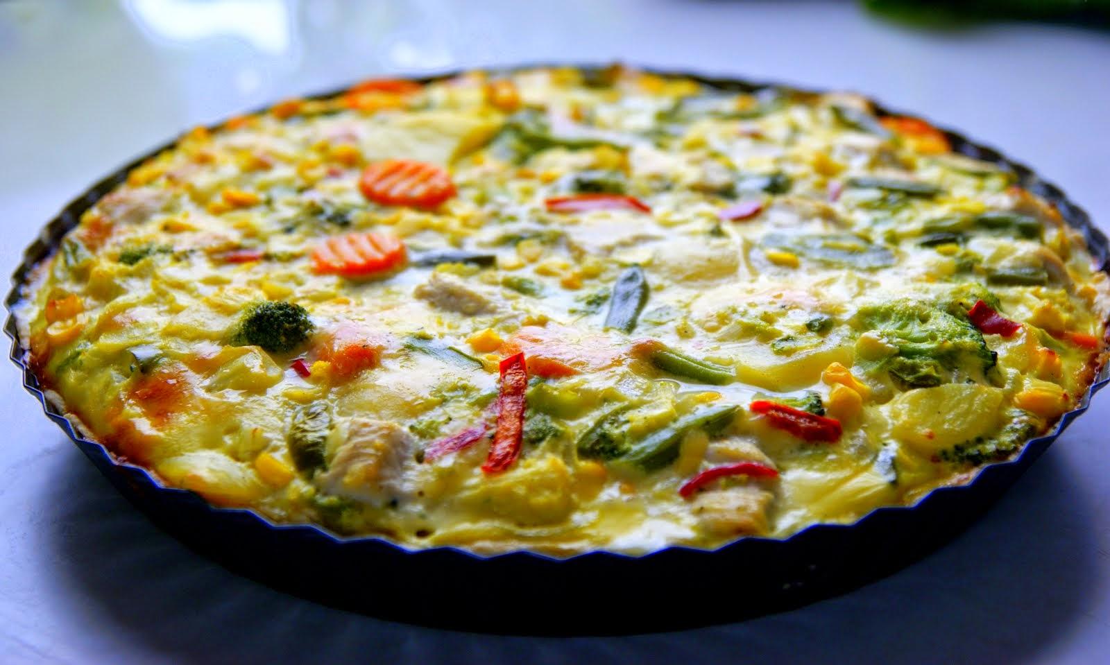 Tarta z Kurczakiem i Warzywami